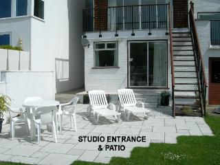 STUDIO ENTRANCE AND NEW PATIO
