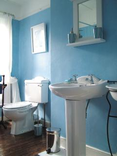 Our Victorian styled bathroom with electric shower.