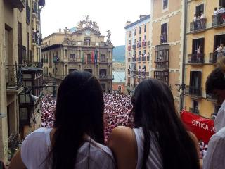 Running with the bulls Balcony, Pamplona