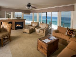 Villa Martinique Living Room Features a Gas Fireplace