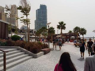*Oceanfront ! Private Beach 5*, 4BR Spacious Apt ,Full Sea Views, On JBR Walk!*