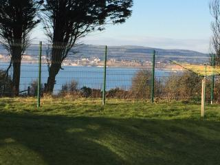 This stunning view across Sandown Bay is just a few yards walk from Wight Waves front door