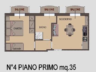 Appartamento Bilocale 1° piano, Torre Pedrera