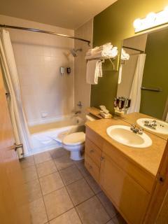 Spacious, bright modern bathroom
