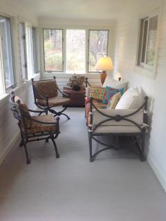 seating area on side sun porch