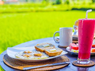 Enjoy made to order breakfasts each morning on your private deck