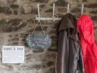 A warm welcome awaits you in the porch of Cwt Mochyn cottage