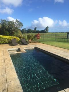 Private salt-water pool & spa.  Hale Nene Poipu Vacation Home: AC, 3 bedroom
