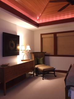 Upper King suite seating:  cozy seating for relaxing with a book before bed.