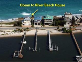 5-Star FL Beach House. ON beach. Ocean+River+Dock!, Stuart