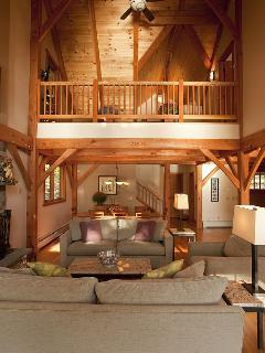Looking up toward loft from Great Room