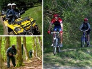 Sports include cycling, quads, boating, tree climbing climbing, paintballing, go karting and balloon