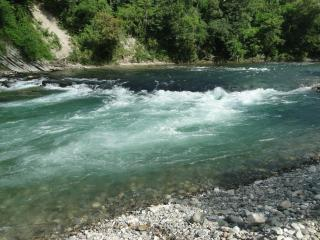 Beautiful river with cristal clear water. Nothing around only nature!