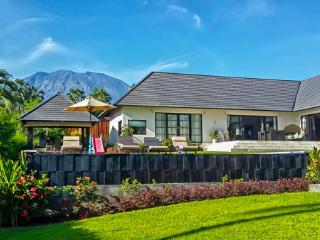 Garden view to Mt Agung