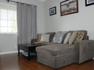 Living room w/ sofa bed