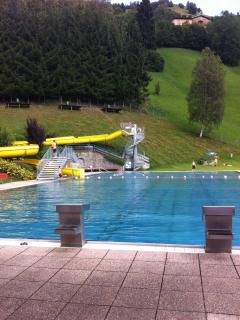 Rauris outdoor pool, great fun for all the family.  Very relaxing with great views down the valley