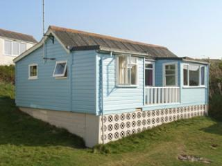 A 1940's traditional wooden beach chalet.