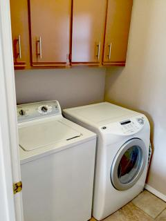 Washer & Dryer - we provide detergent & other laundry supplies.