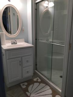 First floor bath with walk-in shower.