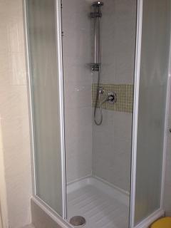 inside the shower..