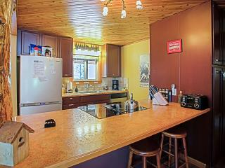 Fully equipped kitchen supplied with self-catered waffle breakfast.
