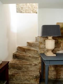 This property has lots of character as seen in these worn stone steps