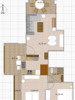Avra Apartments, Sirokos, Floorplan
