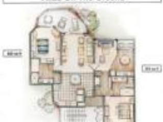 floor plan for 2 bdrm