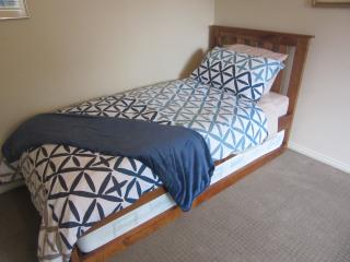 Bedroom 2: 2 single beds & 1 single trundle, all innerspring mattresses