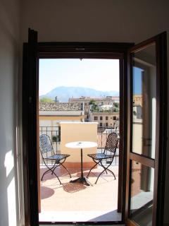 Vista del terrazzo dal soggiorno