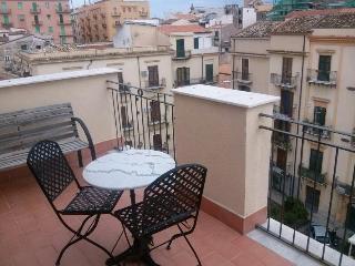 Una terrazza su tetti di Palermo