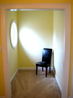 The alcove area in the yellow bedroom
