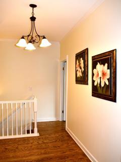 The upstairs foyer