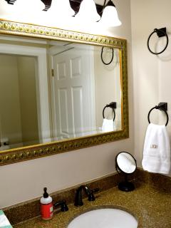 Another view of the upstairs hall bathroom