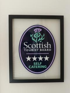 We are graded 4* Excellent by the Scottish Tourist Board