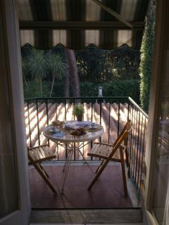terrazzino del soggiorno con vista