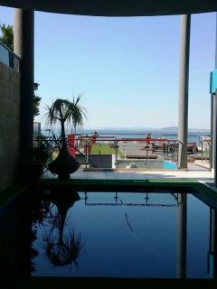View from the pool.