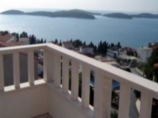 Apartment has 100 m2 area, two double bedrooms, tw