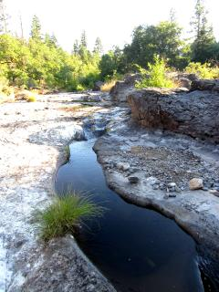 In late summer the flow dwindles...but check out the great rocks!