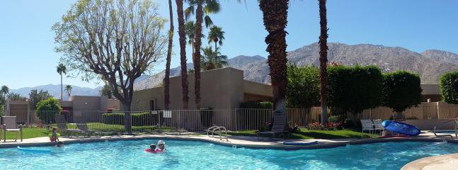 Serene pool and courtyard