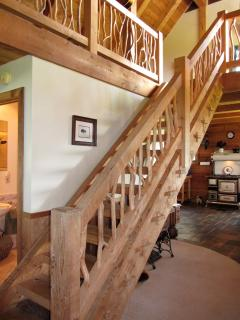 Stairway to loft bedrooms