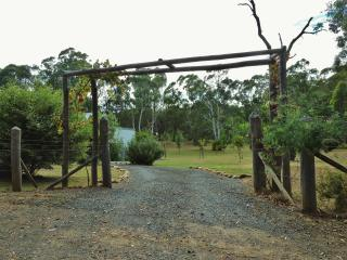 Entry gate and driveway from English Lane