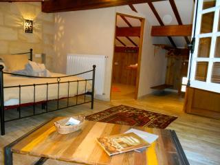 Chambre avec terrasse sur piscine, Petit-Palais-Et-Cornemps