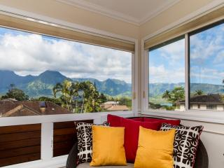 4 / 5br, Hanalei House with Waterfall and Bay View, Princeville