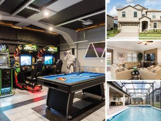 Champion Villa | Luxury and Upgrades Throughout, Star Wars Theme Game Room, Arcades, Furnished Dec 2015, Davenport