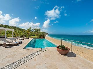 LA VIE EN BLEU ...Stunning New 2 BR Luxury Beach Front Villa on Baie Rouge, St. Martin