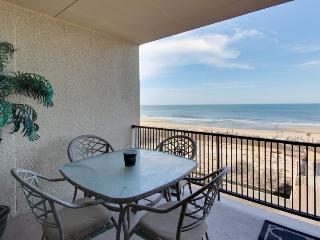 Beachfront view from private balcony, shared seasonal pool!, Ocean City
