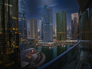 Spectacular view from deluxe apartment, Dubai