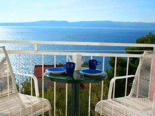 Perfect Seaview Apartment just 150m from the beach, Large Dining Terrace, Brela