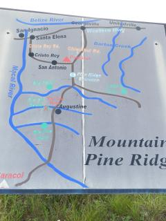 Map of Mountain Pine Ridge area.  Note Cristo Rey - that's us!